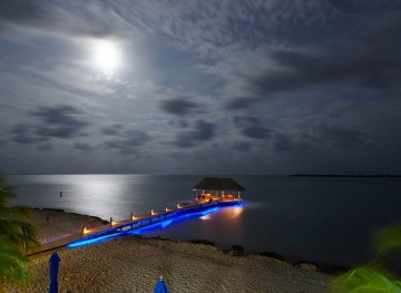 Pier-at-night-Chabil-Mar-Belize-Resort