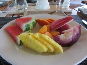Costa Rican fruit plate