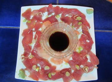 Sashimi made from tuna