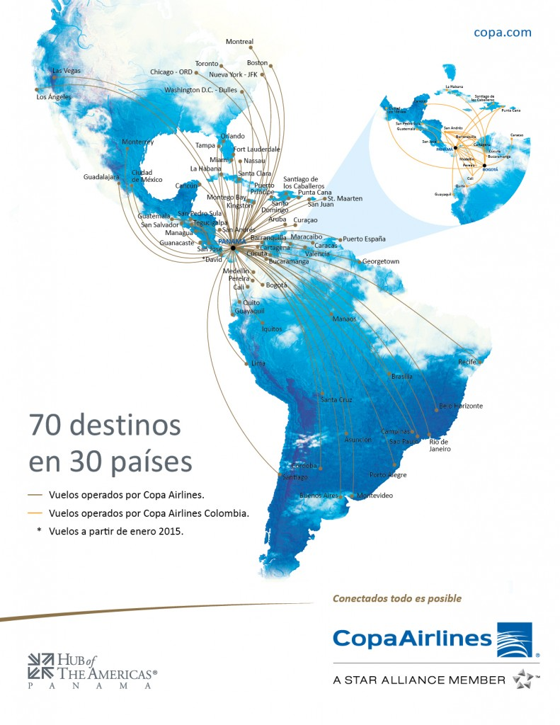 Copa Airlines Flight Map