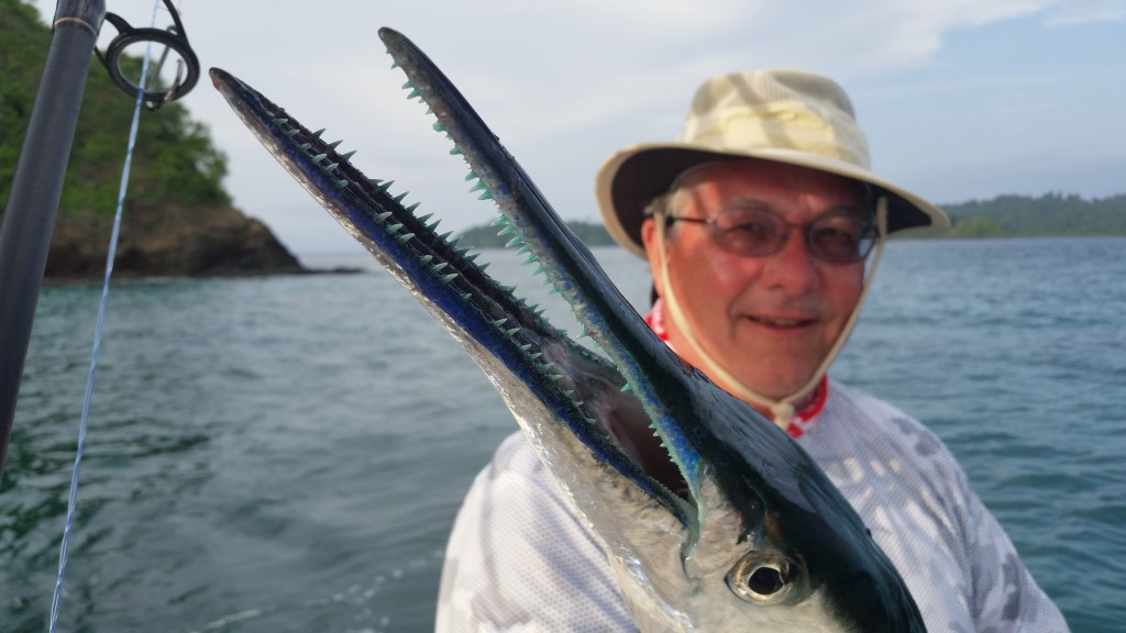 Check out the blue teeth on that hound fish!