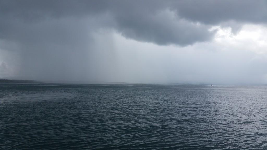 Rainy fishing day in Panama