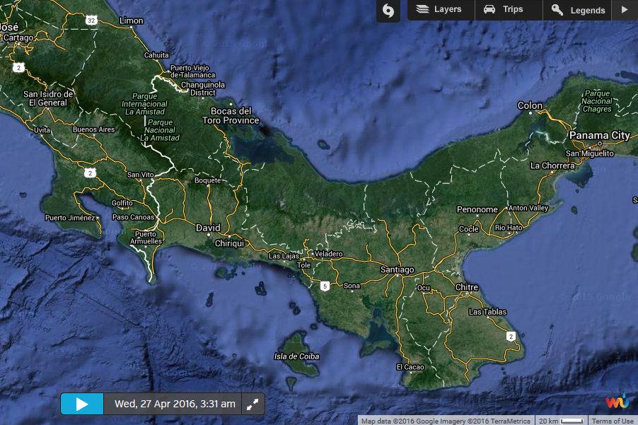 Gulf of Chiriqui Fishing Map