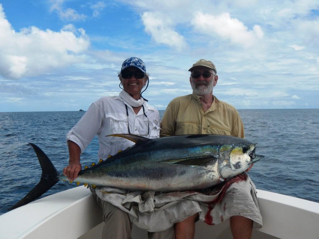 Big yellow-fin tuna caught at Hannibal Bank
