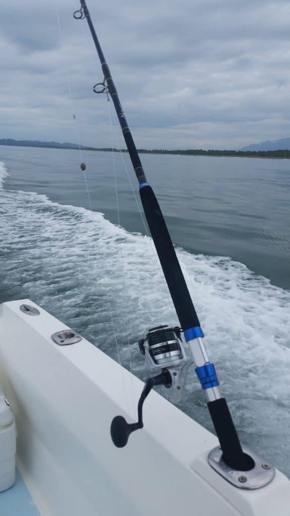 Okuma Nomad Travel Rod headed out to sea