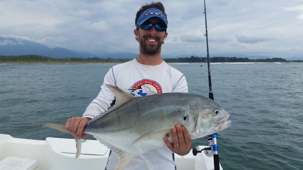 Jack Crevalle caught in Panama on Okuma Nomad Travel Rod