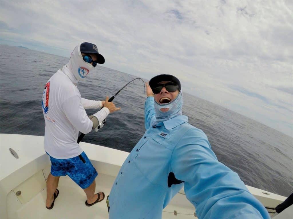 Fishing my Okuma Nomad Travel Rod in Panama with Shea from Stoked on Fishing