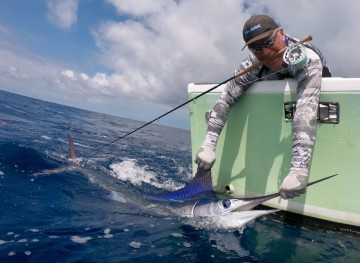 fly fishing for marlin in Costa Rica
