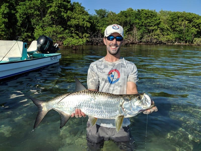 Tarpon catch and release in Belize