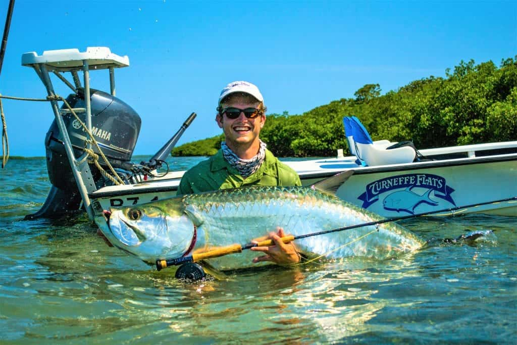 fly fishing for tarpon in Belize