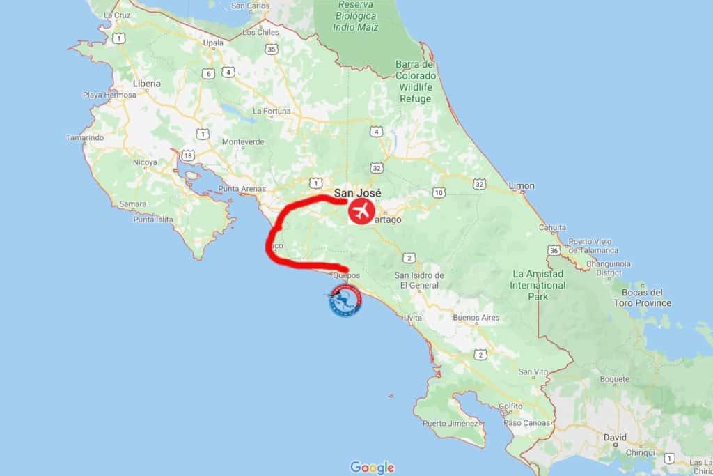 Quepos, Costa Rica Map
