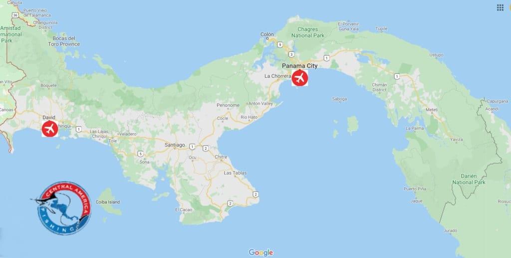 Hannibal Bank, Panama Map
