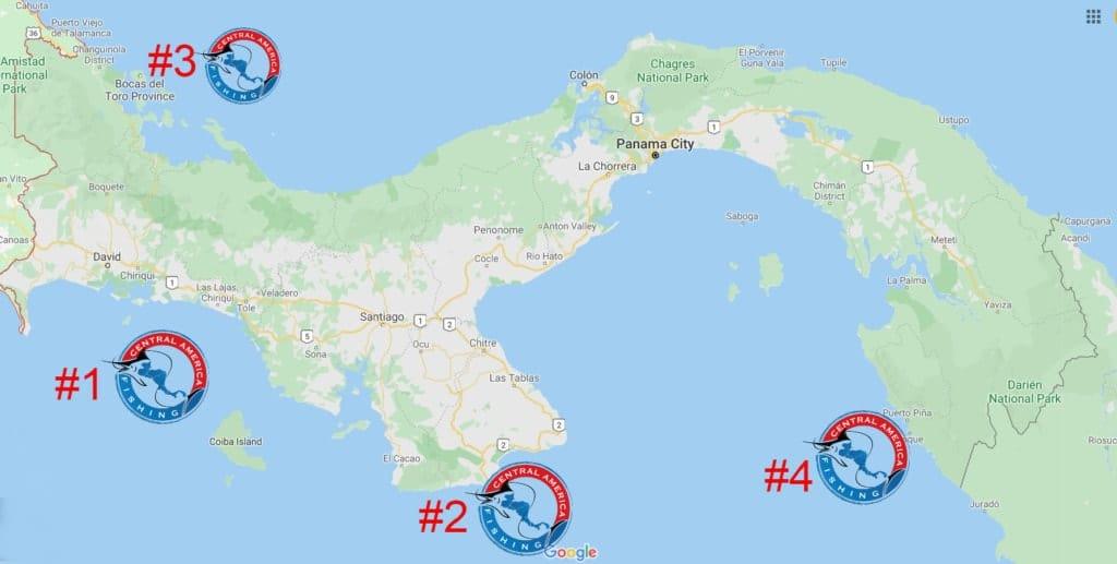 Panama Inshore Fishing Map