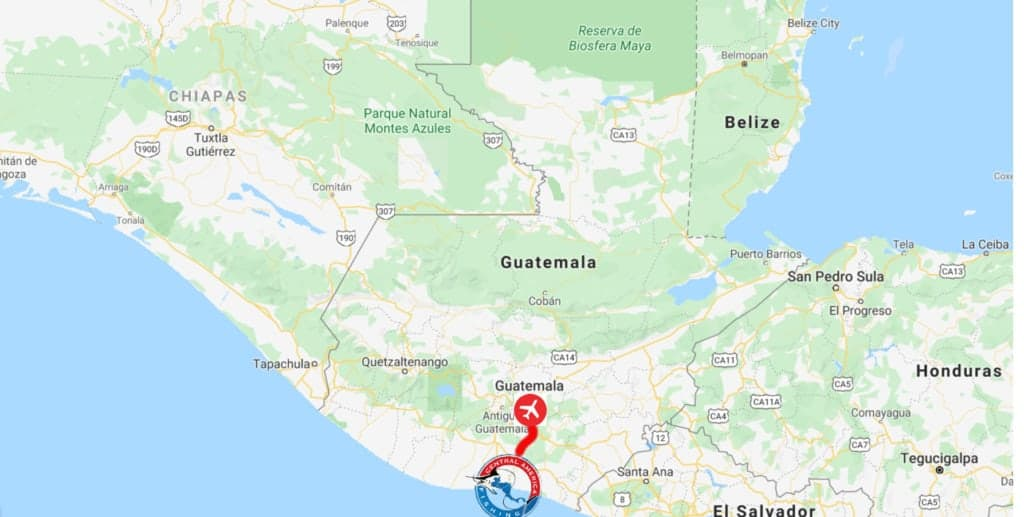 Guatemala Fishing Map