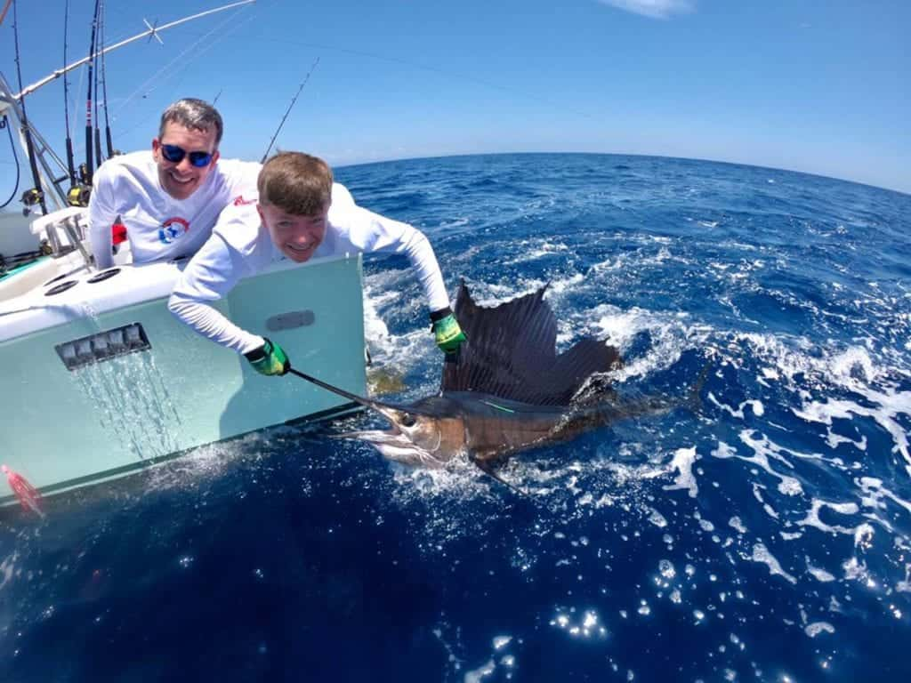 Sailfish catch and release in Costa Rica