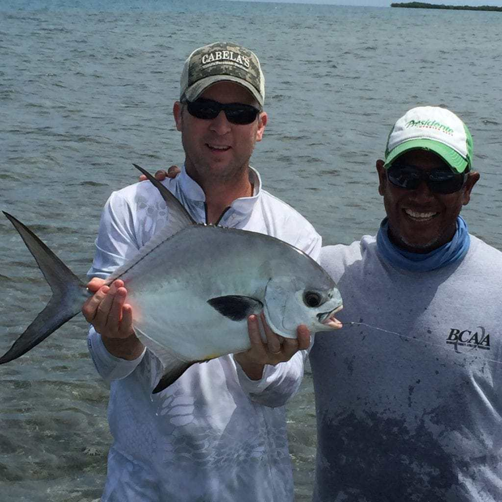 spin fishing for permit in Belize