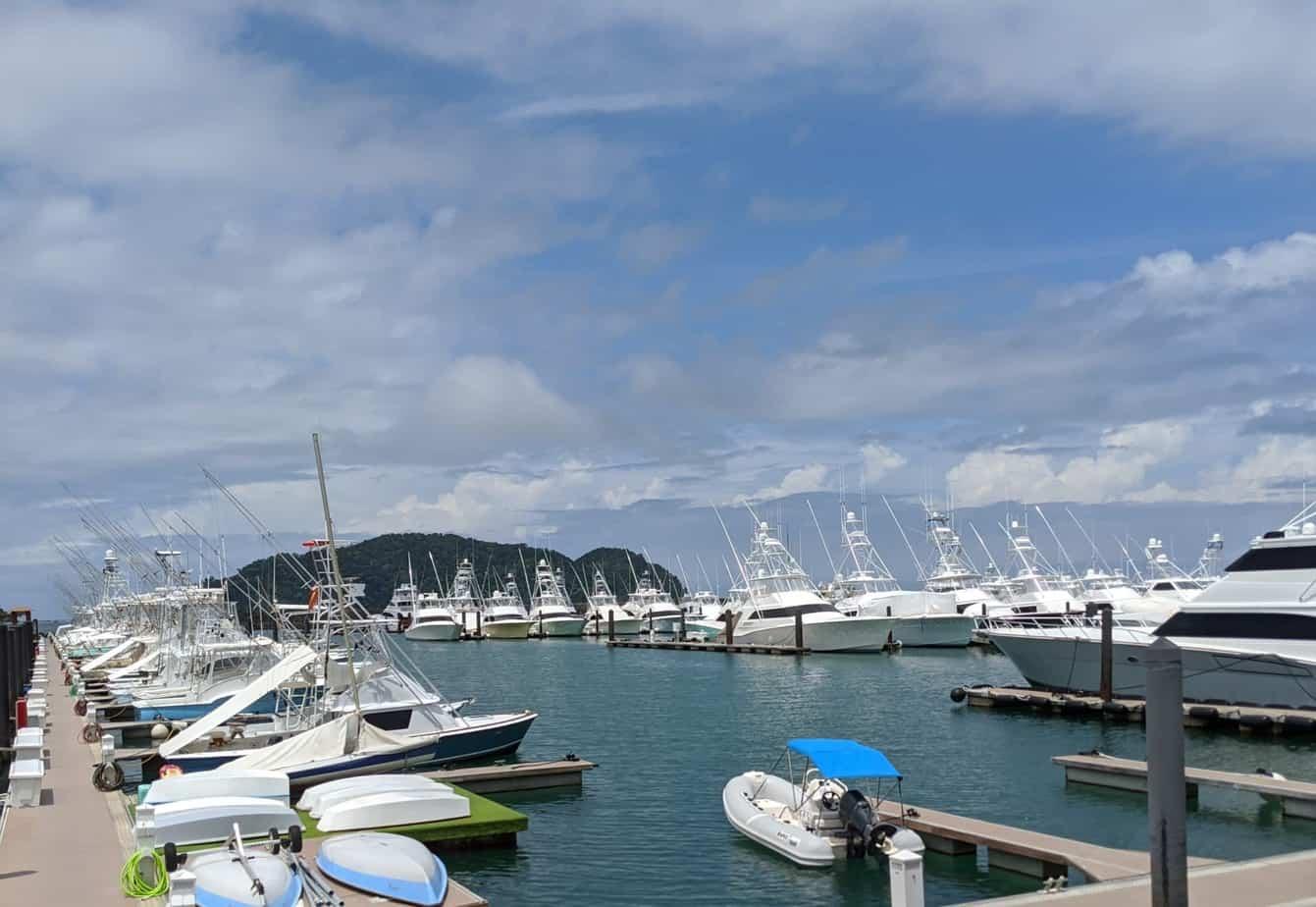 Boats at the Los Suenos Marina