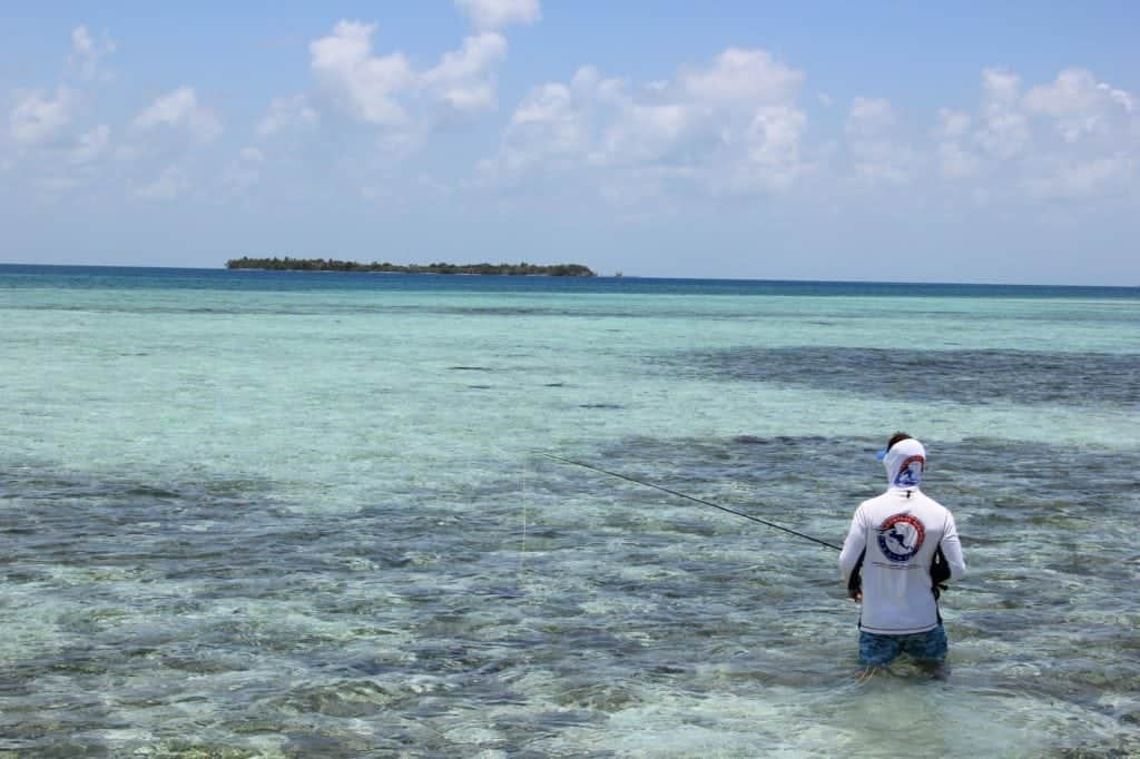Fly fishing the flats in Belize