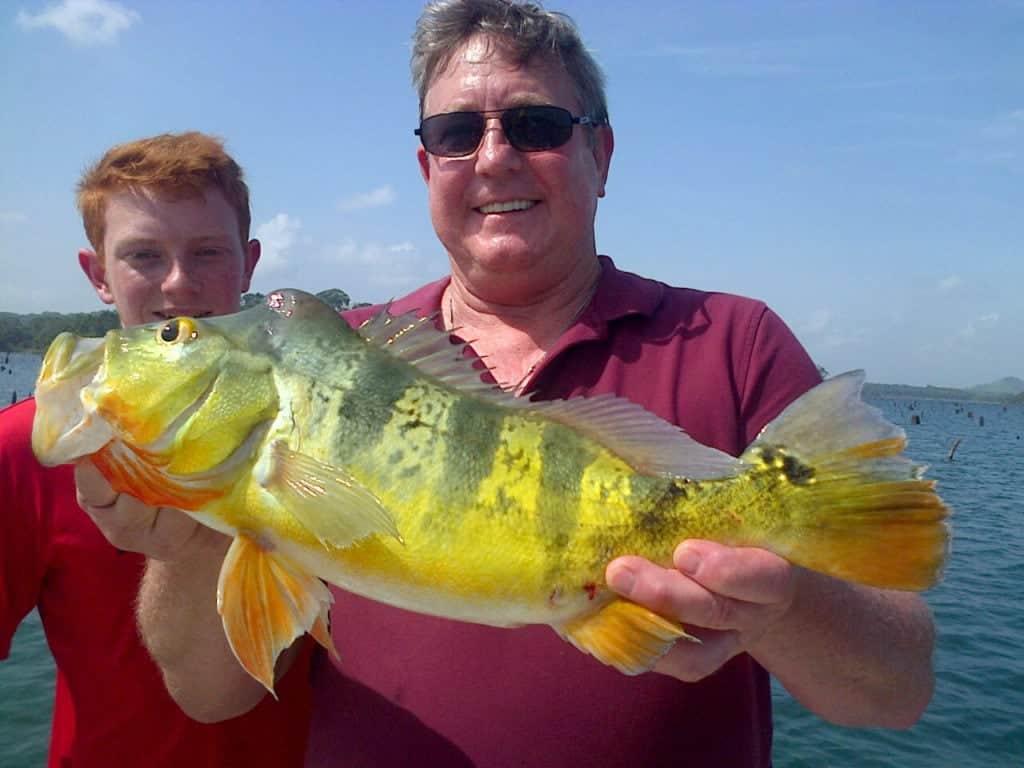Fishing on the Panama Canal