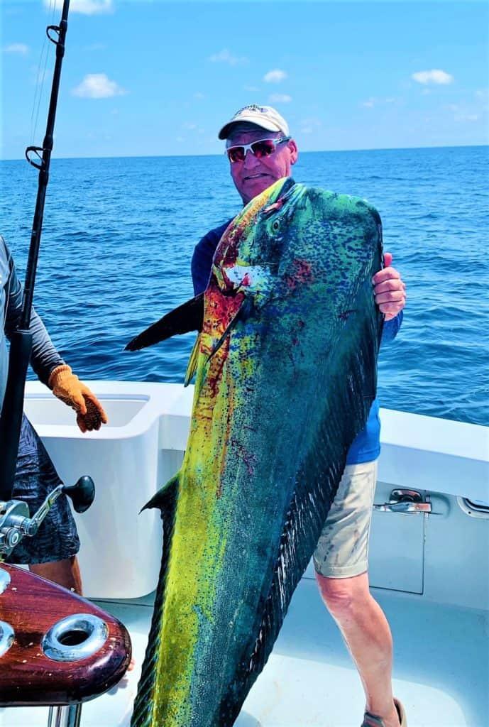 huge dorado caught at Los Suenos, Costa Rica